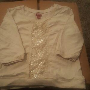 Girls 3/4 sleeve sweatshirt
